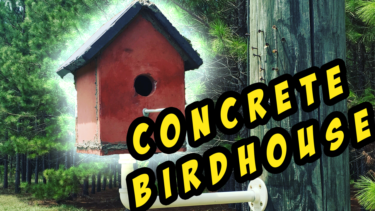 Let's Make a Quikrete Concrete Birdhouse